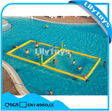 Best quality lilytoys inflatable toys inflatable aqua/water volleyball court