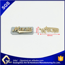 fashion custom metal letter logo plates