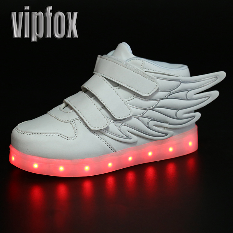 App control Children led shoes with USB charger boys girls child LED light shoes