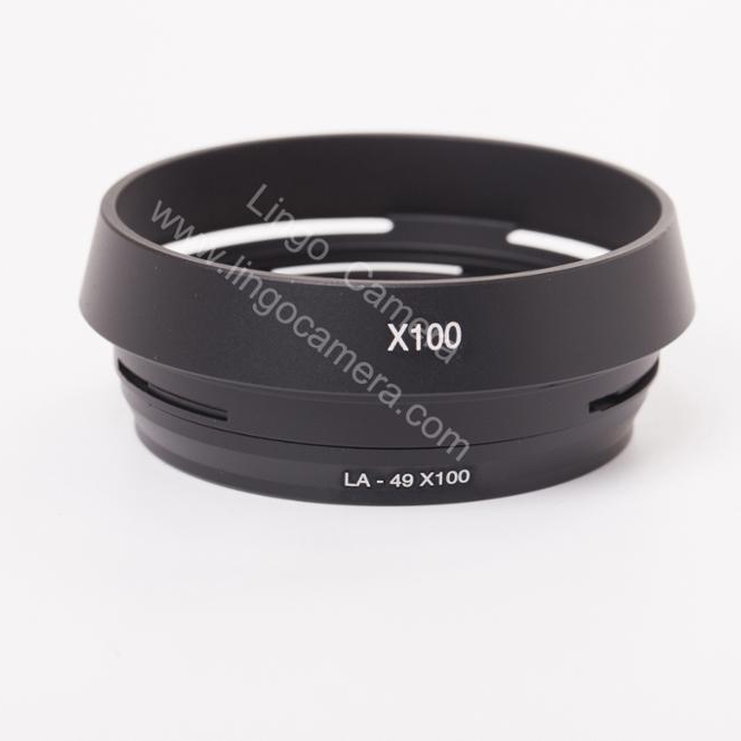 Camera Lens Hood Black JIN Camera Accessory Metal Vented Lens Hood for All Leica Lens with 55mm Filter Thread