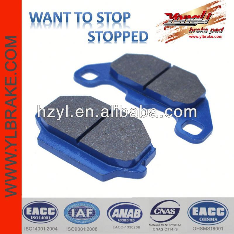 Performance comfortable non-asbestos cbk disc brake pads
