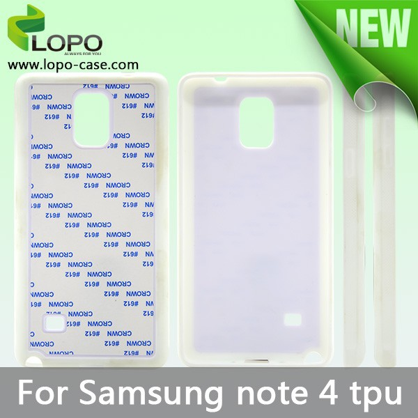DIY TPU case/ sublimation phone cover for Samsung Galaxy Note 4