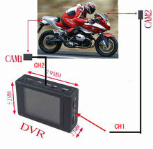 2 Channel Motorcycle DVR / 2 cameras Motocycle DVR
