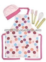 100% cotton dots printing design kitchen cooking bib apron