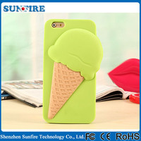 2015 New Arrival for iphone case ice cream,melting ice cream cover case silicone for iphone 6 case