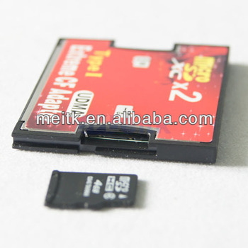 2 Port Micro SD/TF to Compact Flash CF Card Adapter