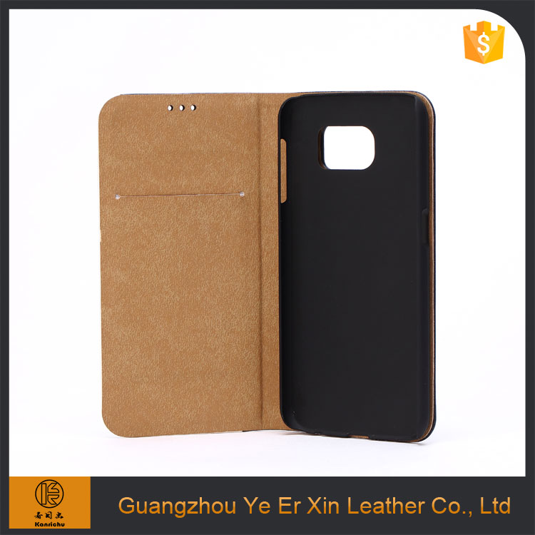 Trade assurance guangzhou free sample design genuine leather phone case for samsung galaxy s7 edge