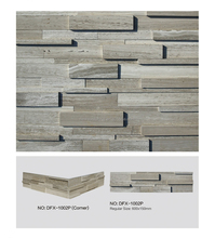 DFX - 1002P Polished white wood culture stone brick veneer walls ledger panels