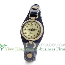 2014 Hot promotion gifts genuine leather mens wrist watches wholesale High quality quartz movt antique wrist watches stock