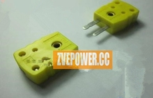 Light Yellow K Type Thermocouple Connector Temperature Meter Plug