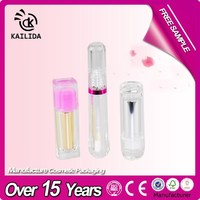 high end led light lip gloss container