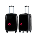 Solid black color China abs luggage with customized logo
