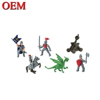 Customized Plastic Knight & Dragon Model Figures For Child
