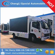FAW 4x2 Digital Mobile LED Display Billboard Truck for Hot Sale