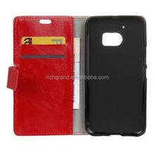 Leather Card slot Wallet Flip Case Cover For HTC One M10