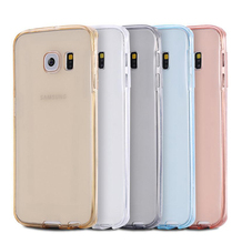 360 degree protective tpu transparent clear 2 in 1 Slim Mobile phone case for samsung S7 edge plus