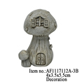 Mini Mushroom House Decor Resin Crafts Figurine Garden Ornament