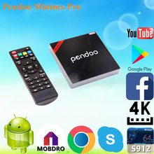 Pendoo Minimx Pro S912 2G 16G smartphone projector install google play store android tv box with low price Android 6.0 TV Box