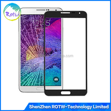 Original OEM note 4 Front Glass, Front Glass Lens Cover Outer Touch Panel Screen Replacement for Samsung Galaxy Note 4 N9100