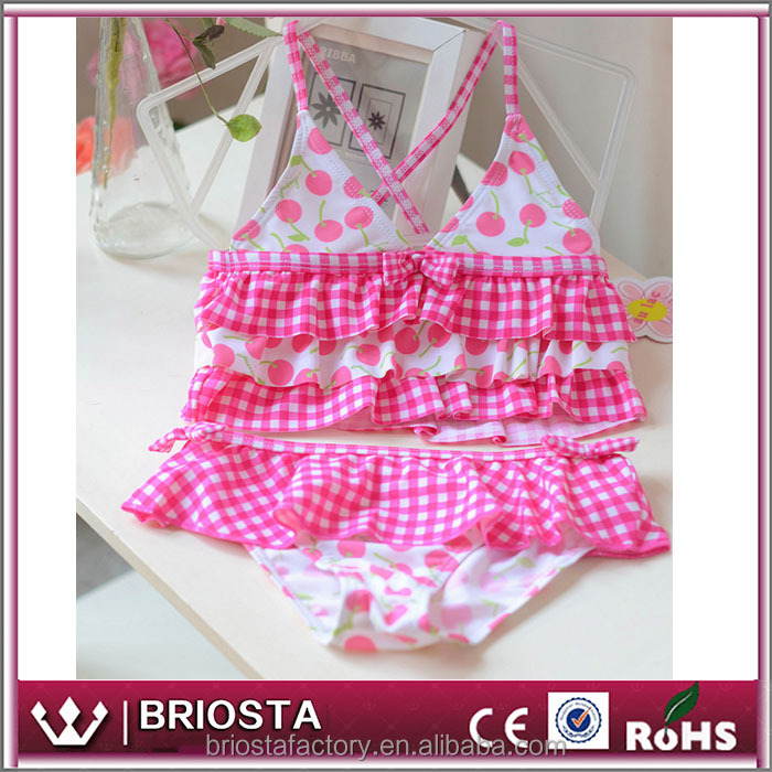 Wholesale Fashion Ruffle Girls Bikini Swimsuit