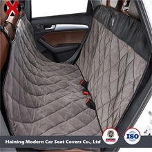 Soft Velvet Quilted Back Seat Protector/ Hammock Dog Car Seat Cover