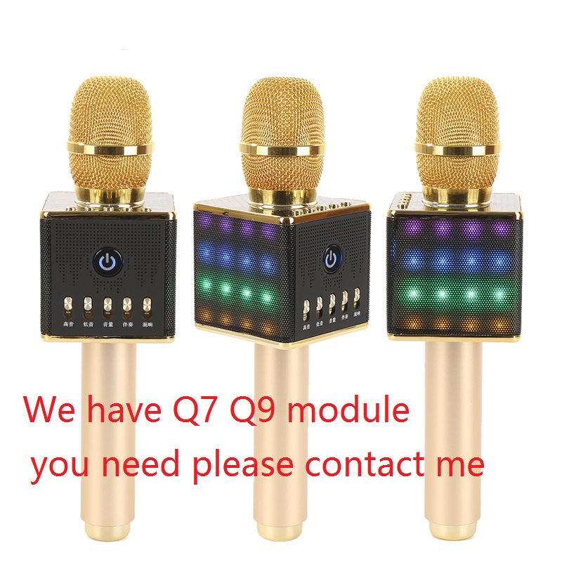 H8 Mini Karaoke Microphone Bluetooth, Wireless Microphone with colorful LED light