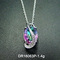 Fashion Woman Jewelry Oval Mystic Topaz 925 Sterling Silver Pendant Jewelry