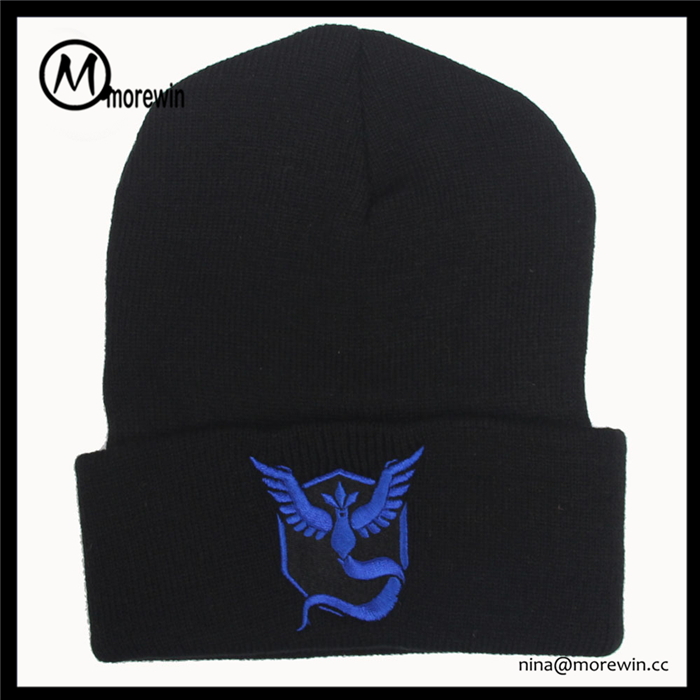 Morewin Brand Europe and the United States the new hot style pokemon go knitting hat pokemon pet elves hip-hop hat