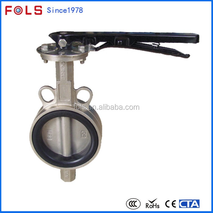 Handle Lever low pressure cast steel 1 inch butterfly valve