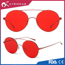 Korea style fashion Women sunglasses Retro Round Sun glasses