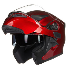 DOT approval dual lens red color modular flip up motorcycle helmet