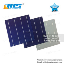 4W Poly Crystalline Silicon Solar Cells 156x156mm 4BB thin film cell
