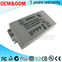 China manufacturing CE approval 3000ma 12v 30w constant voltage led driver