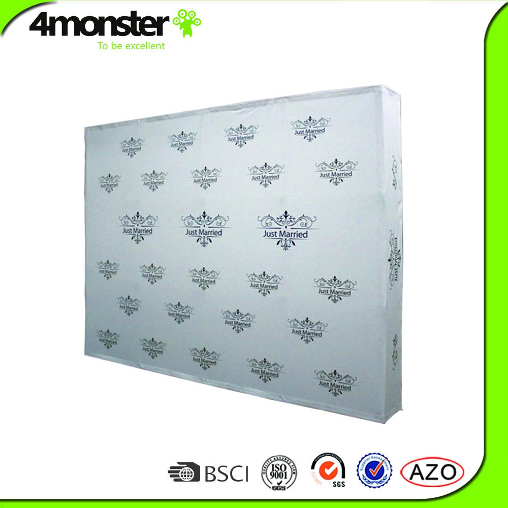 Aluminum Frame Wedding Backdrop Tension Fabric Display Stand For Sale