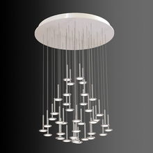 Modern Simple white aluminum acrylic led hotel project chandelier