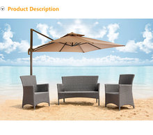 latest design furniture hotel garden furniture plastic weave grey wicker sofa sets