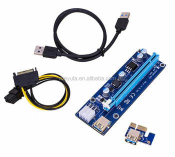 009S PCI-E Riser 1X to 16X 6pin pcie USB 3.0 Card