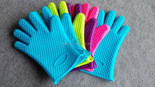 New Non-slip Grip Heat Resistant Baking Cooking Mitt Pot Holder Silicone Glove