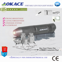China Factory Endoscope Portable Light Source Condenser Technology / Rechargeable LED Cold Light Source
