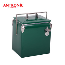 Antronic 13L ice box antique metal ice box with bottle opener
