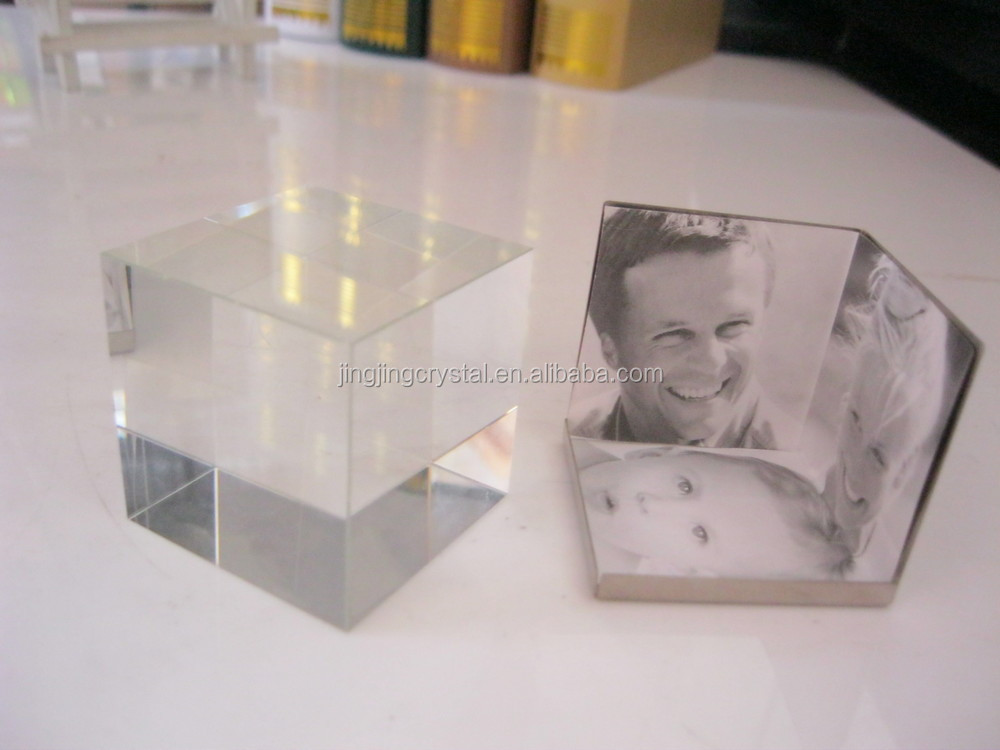 Latest Design Funny 3d Crystal Glass Photo Picture Frame