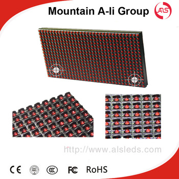 320 x 160mm p10 red color led modules for single color led display sign
