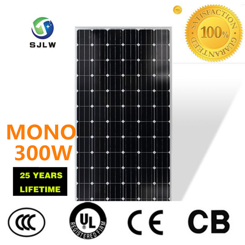 monocrystalline pv solar panel 300w SJLW China factory in Jinhua city
