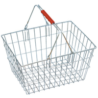 Metalic shopping baskets with chrome plated