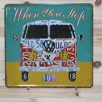 30x30cm Car vintage metal tin signs wall hanging metal plaque and signs