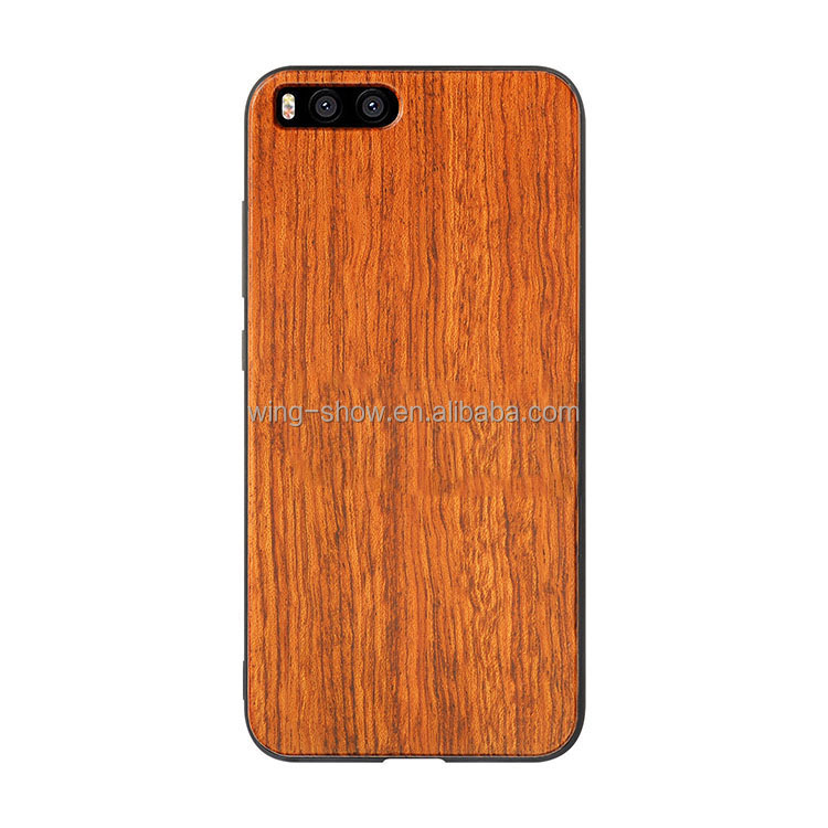 blank wooden mobile phone shell for Xiao mi 6,box packaging phone covers