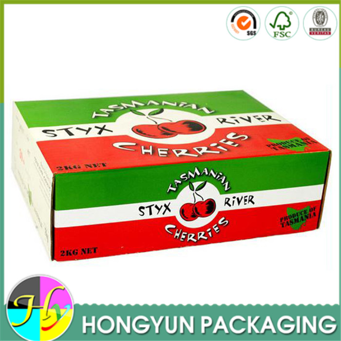 Large corrugated paper fresh fruit/cherry packaging