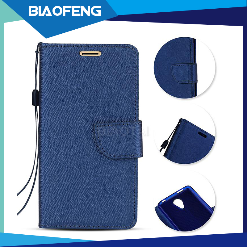 High Quality Luxury Wallet PU Leather Mobile Phone Case With Card Slot For BLU Studio Selfie 2
