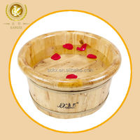 Pedicure foot basin wood material foot tub