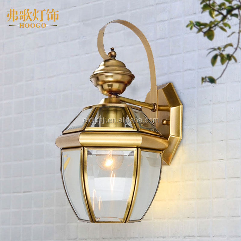 NEW wall light outdoor led brass vintage wall lamp
